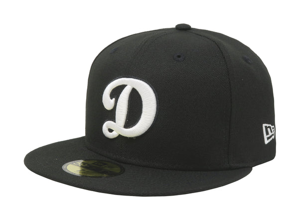 "New Era 59Fifty Black/Black Los Angeles Dodgers ""D"" Men Cap"