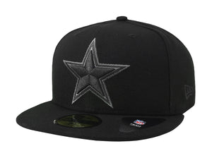 New Era Cap 59Fifty Dallas Cowboys Basic Black/ Grey Men Hat