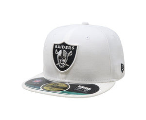 New Era 59Fifty Oakland Raiders White/Silver Kids Cap