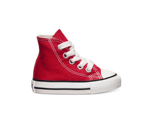 Converse All Star Red Hi Top Infant Shoes