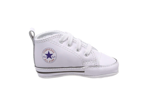 Converse First Star White Leather Hi Top Crib/Infant Shoes