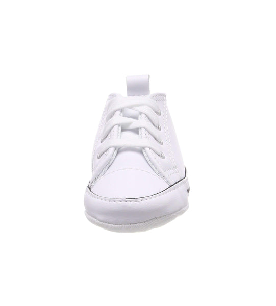 Converse First Star White Leather Hi Top Crib Shoes