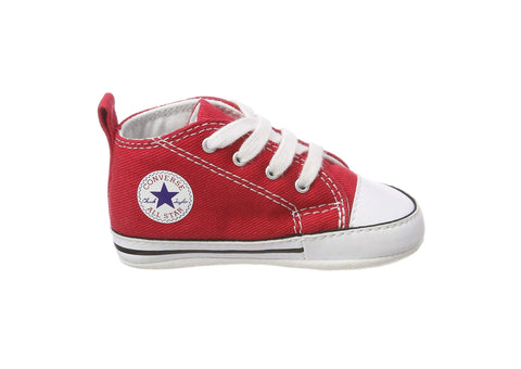 Converse First Star Red Hi Top Crib/Infant Shoes