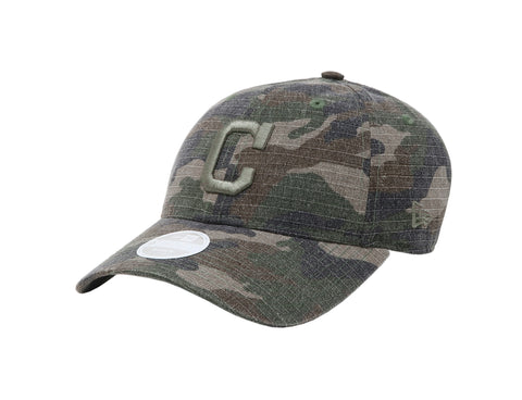 New Era MLB 9Twenty Adjustable Cleveland Indians Camouflage Women Cap