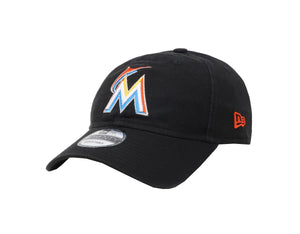 New Era MLB 9Twenty Adjustable Miami Marlins Black Men Cap