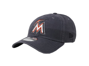New Era MLB 9Twenty Adjustable Miami Marlins Charcoal Men Cap