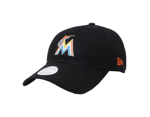 New Era MLB 9Twenty Adjustable Miami Marlins Black Women Cap