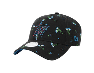 New Era MLB 9Twenty Adjustable Miami Marlins Blossom Black Women Cap