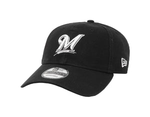 New Era MLB 9Twenty Adjustable Milwaukee Brewers Black Men Cap