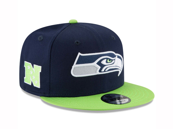 New Era 9Fifty Seattle Seahawks Baycik Navy/Light Green Men Adjustable SnapBack Cap