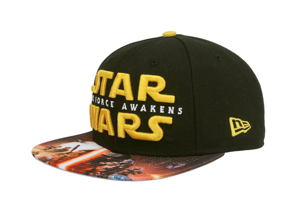 New Era 9Fifty Star Wars The Force Awakens Black/Red Print Men Adjustable SnapBack Cap