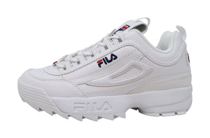 Fila Disruptor II White/White Leather Big Kids Shoes