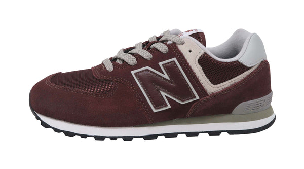 New Balance 574 Burgundy/Grey Youth Shoes