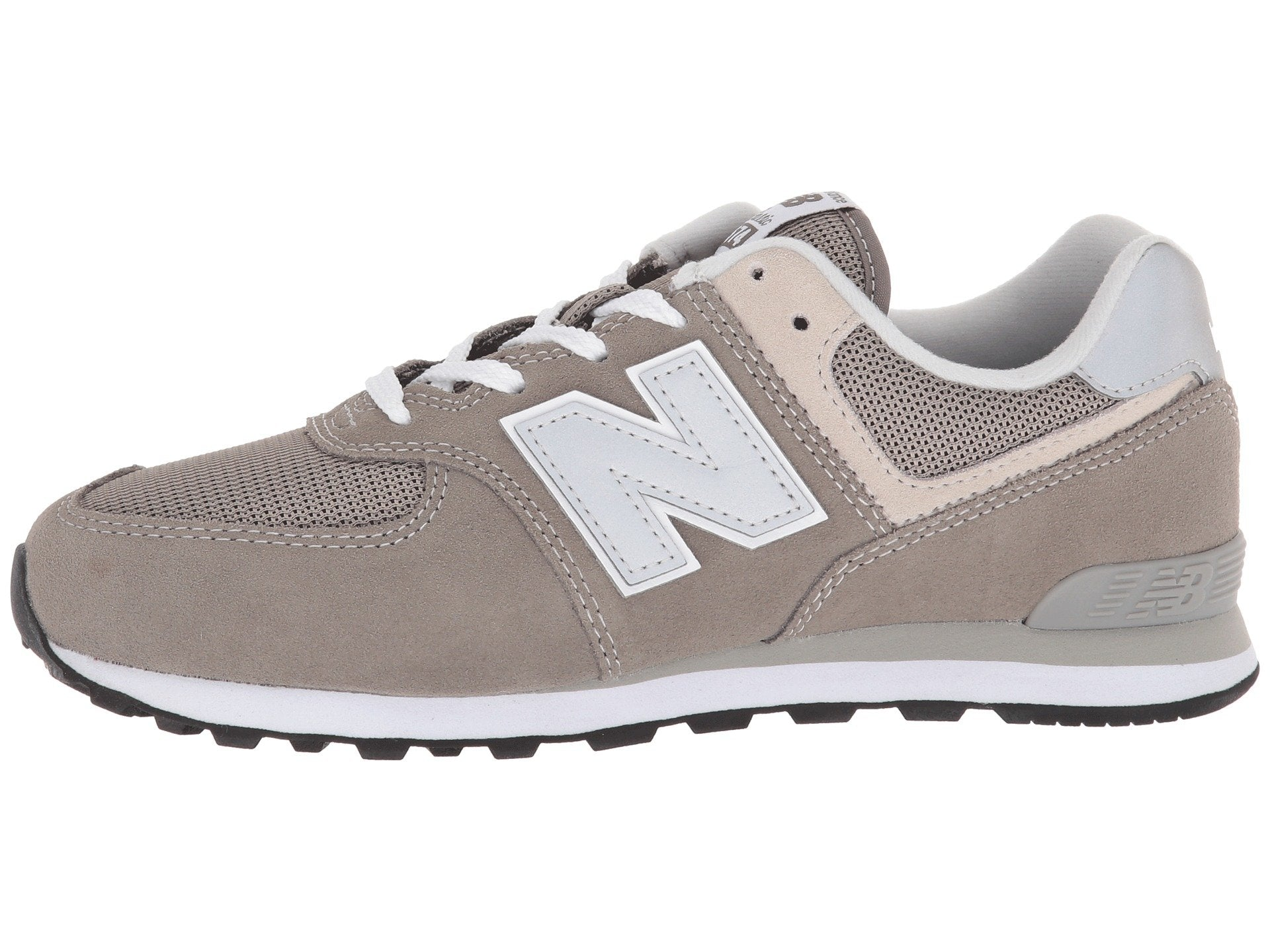 New Balance 574 White/Grey Big Kids Shoes