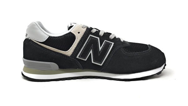 New Balance 574 Black/Grey Youth Shoes