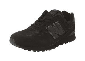 New Balance Classic 574 Black/Black Big Kids Youth Shoes