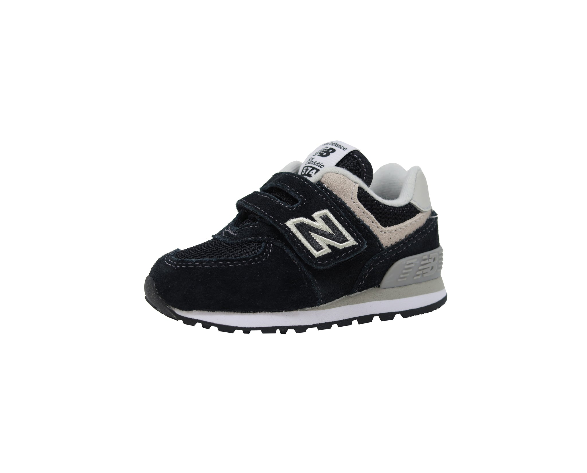 New Balance 574 Black/White Toddler Shoes