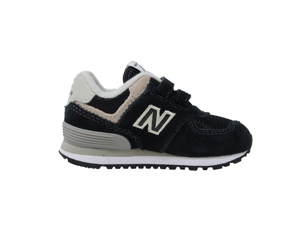 New Balance 574 Black/Grey Toddler Shoes