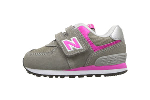 New Balance 574 V Gray/Fuchsia Toddler Shoes