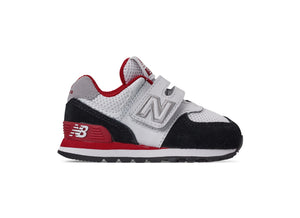 New Balance 574 V White/Black/Red Toddler Shoes
