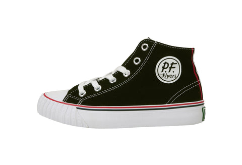 Pf-Flyers Center Hi Black/White Little Kids/Big Kids Shoes