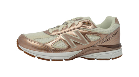New Balance 990v4 Metal/Gold Youth Shoes