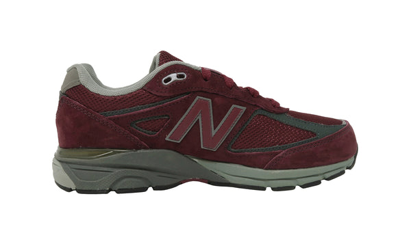 New Balance 990 Burgundy/Gray/Charcoal Youth Shoes