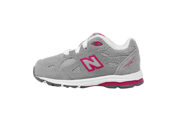 New Balance 990 Grey/White Toddler Shoes