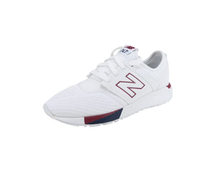 New Balance 247 White/Burgundy/Navy Youth Shoes
