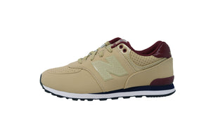 New Balance 574 Beige/Burgundy Youth Shoes