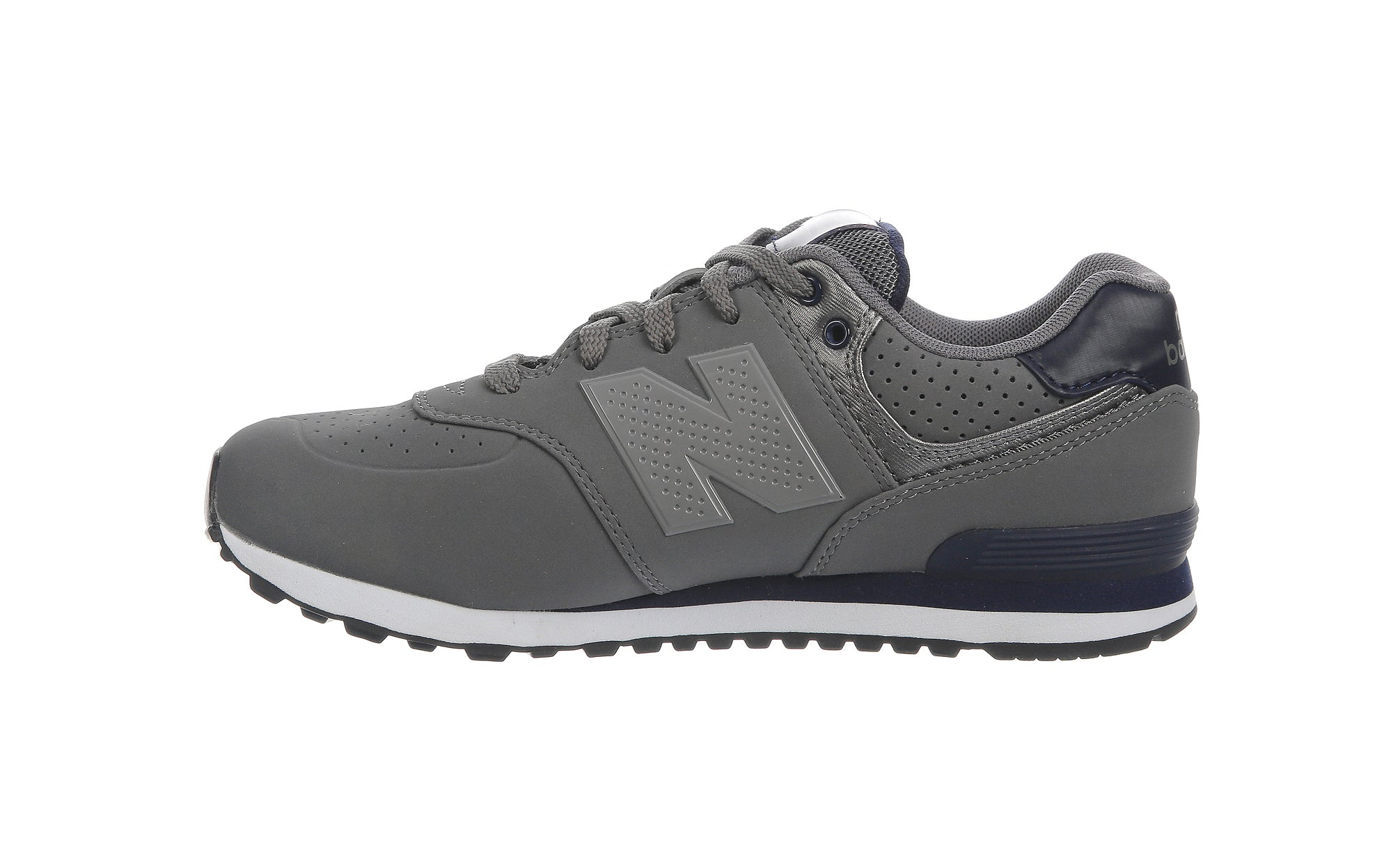 New Balance 574 Charcoal/Navy Big Kids Shoes