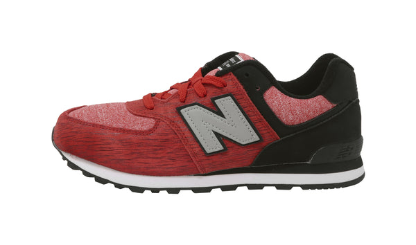 New Balance 574 Black/Red Youth Shoes