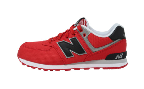 New Balance 574 Black/Hot Red Youth Shoes