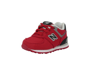 New Balance 574 Red/Black/Gray Toddler Shoes