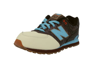 New Balance 574 Beige/Brown/Blue Youth Shoes