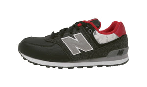 New Balance 574 Black/Charcoal Youth Shoes