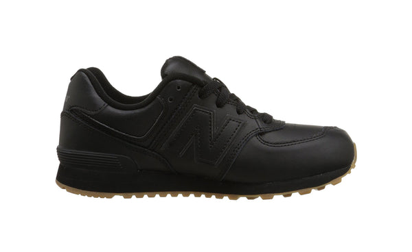 New Balance Black/Brown Gum 574 Youth Shoes