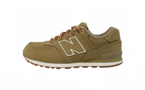 New Balance 574 Tan/Beige Gum Youth Shoes