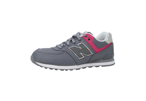 New Balance Shoes Youths Boys Girls KL574 Charcoal Gray Nubuk Running Sneaker