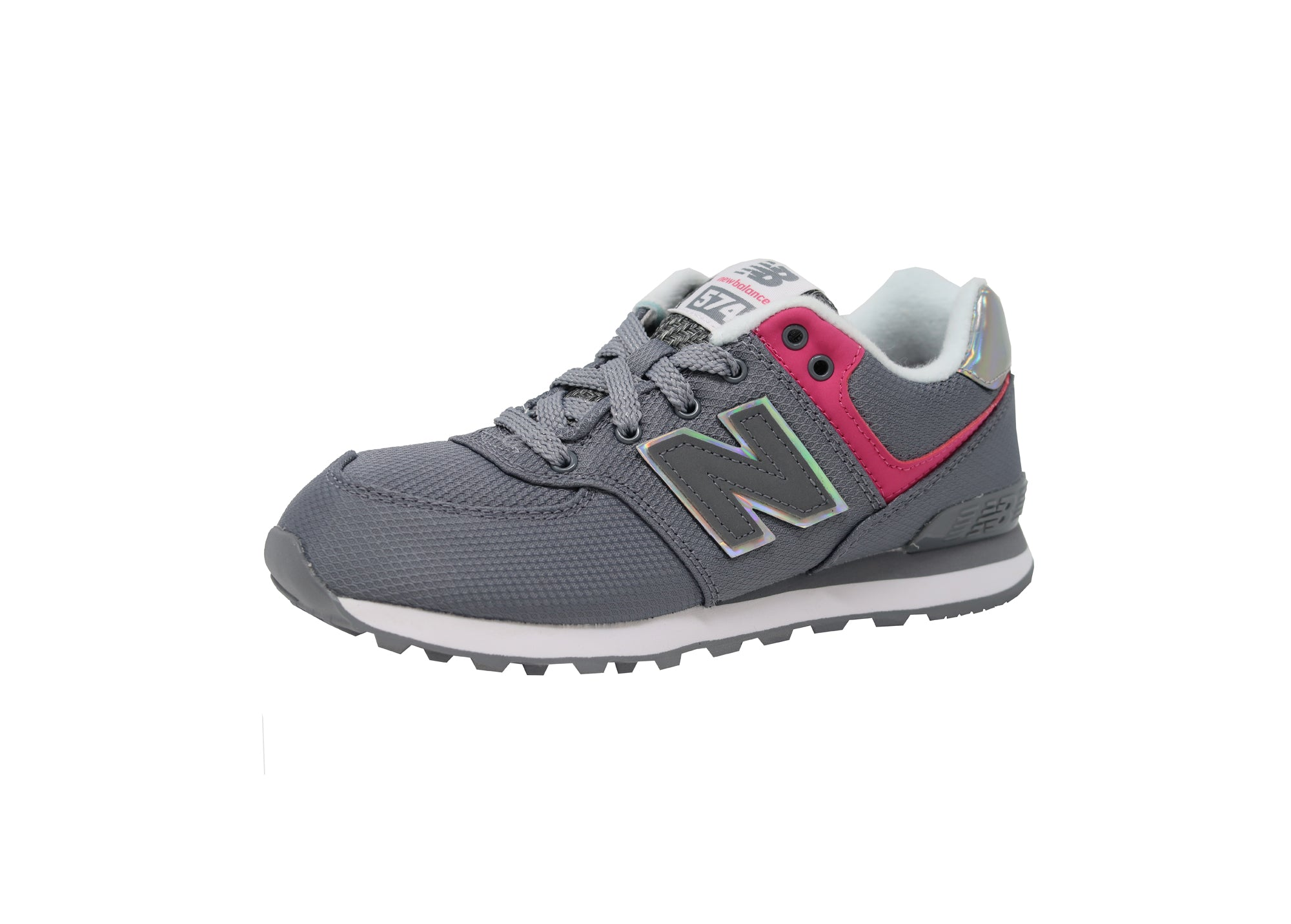 New Balance 574 Gray/Hot Pink/White Kid'sShoes