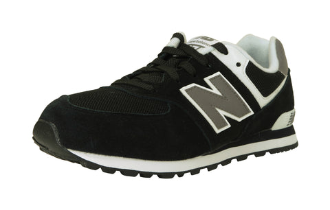 New Balance 574 Black/White/Gray Youth Shoes