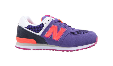 New Balance 574 Lavender/Fuchsia Youth Shoes