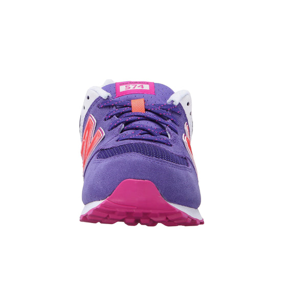 New Balance 574 Lavender/Fuchsia Big Kids Shoes