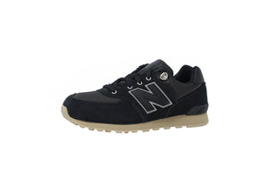 New Balance Youth 574 Black/Tan Shoes