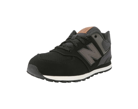 New Balance 574 Black/Gray/Charcoal/White Youth Shoes