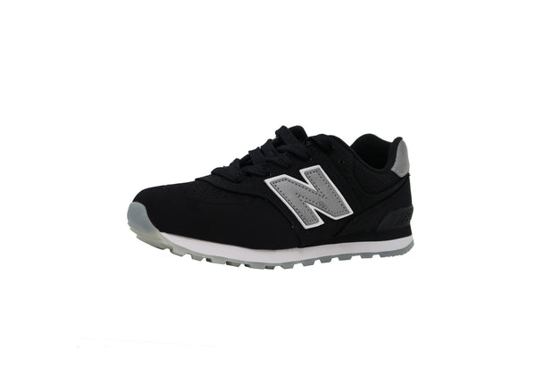 New Balance 574 Black/Gray Kid's Shoes