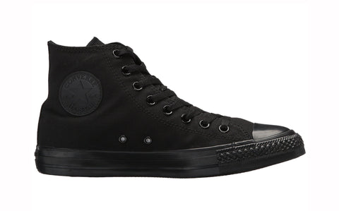 Converse All Star Black Mono Hi Top Unisex Shoes