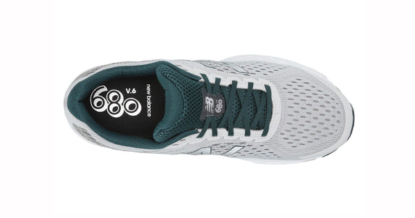 New Balance 680 Light Gray/Dark Green Men's Shoes