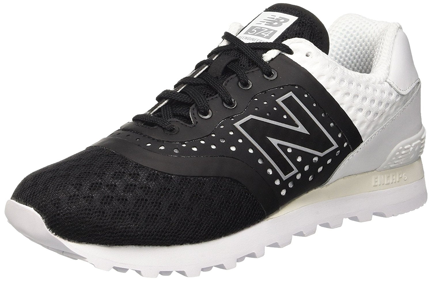 New Balance 574 Black/White Men's Shoes