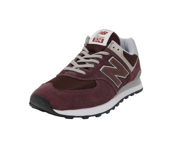 New Balance 574 Burgundy/White Men Shoes